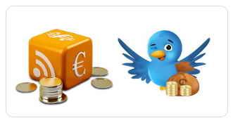Кнопки подписки на Твиттер и RSS