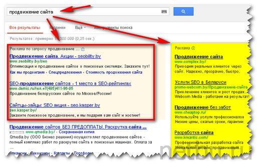 Контекстная реклама сайта в поисковой системе Google