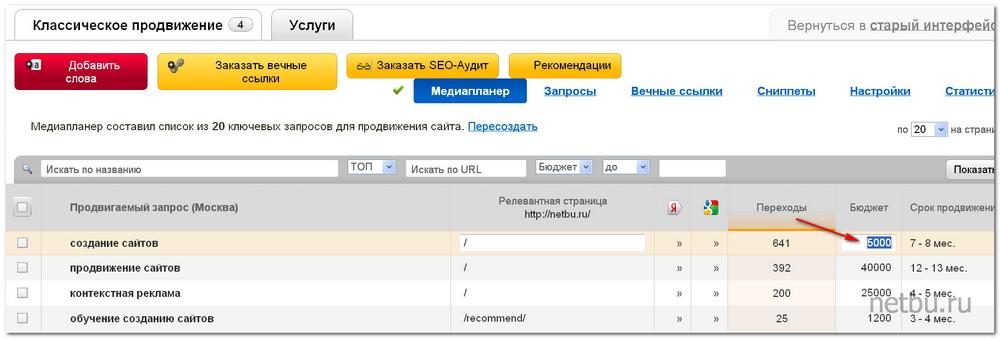 WebEffector - медиапланер