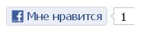 Кнопка Фейсбук Мне нравится