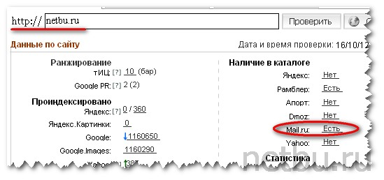 Site Auditor mail ru