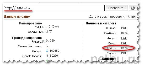 Site Auditor mail ru
