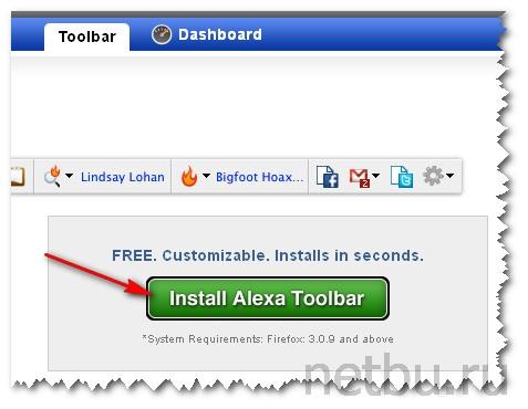 Intstall Alexa Toolbar Firefox