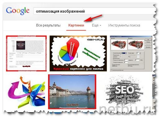 Оптимизированные изображения в поиске