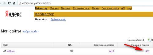 Cервис webmaster.yandex.ru - как определить АГС