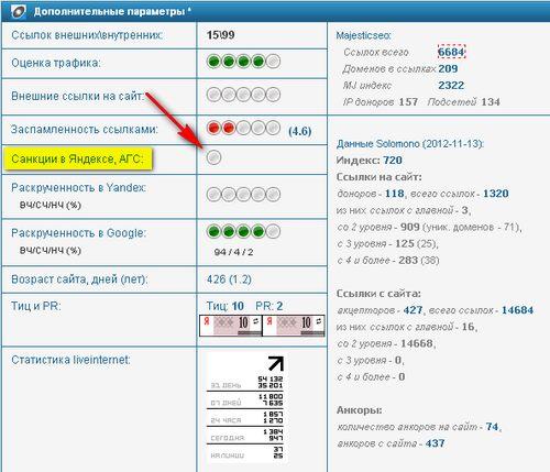 xtool.ru - как определить АГС