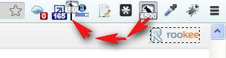 Сортировка иконок дополнений Google Chrome