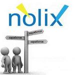 Рекламная строчка Nolix (Ноликс) - заработай на сайте прямо сейчас!