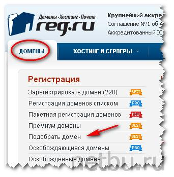Регистратор доменов reg.ru