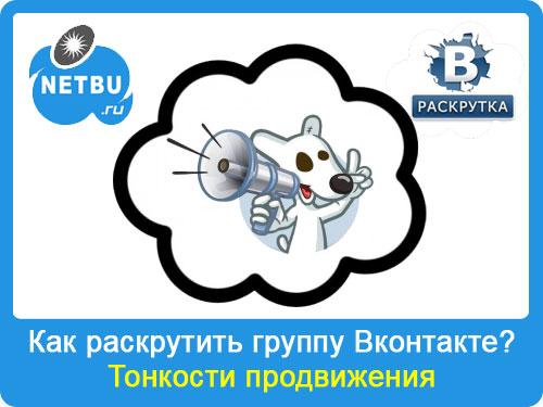 Как раскрутить группу Вконтакте: способы продвижения, бан паблика
